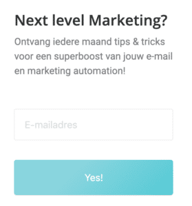 Voorbeeld Marketing Automation trigger